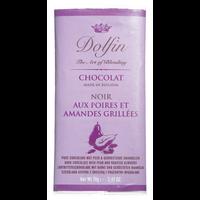 Dolfin Poire geröstete Mandel Schokolade 52% Kakao 70g Tafel